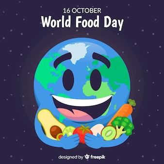 Weltnahrungsmitteltageshintergrund mit erde