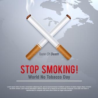 Weltnichtrauchertag-konzept stoppen sie zu rauchen
