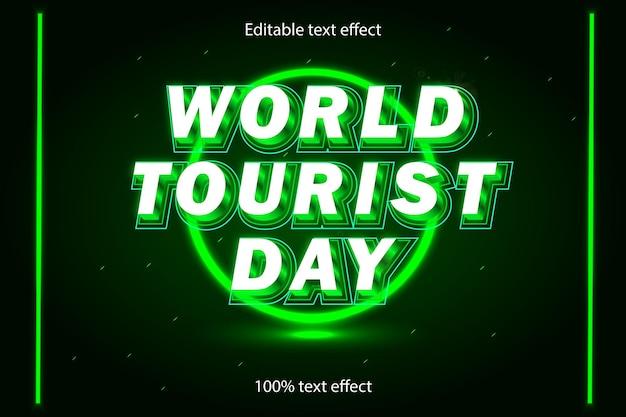 Weltozontag editierbarer texteffekt im neonstil