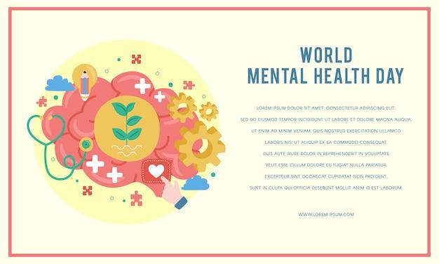 Weltplakat zum tag der psychischen gesundheit