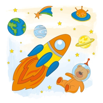 Weltraum-astronaut