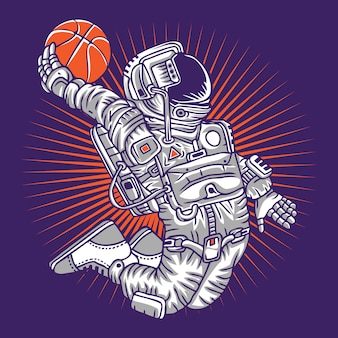 Weltraum-basketball