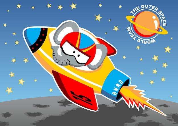 Weltraum-cartoon-vektor