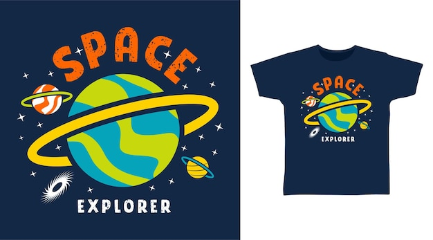 Weltraum-explorer für tee-design