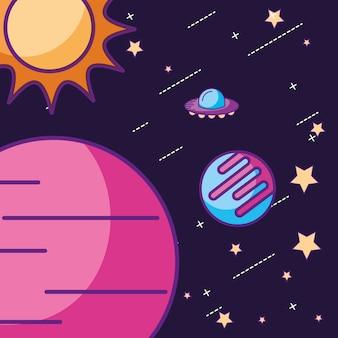 Weltraum-galaxie-karte