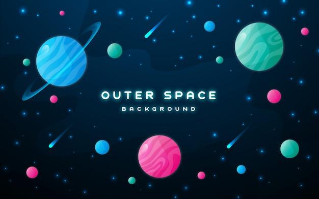 Weltraum hintergrunddesign