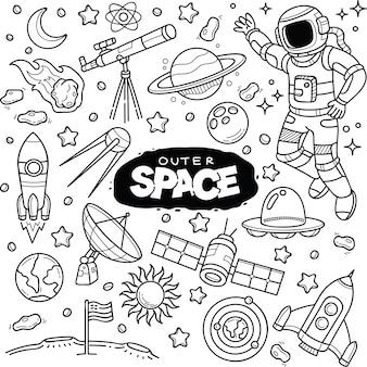 Weltraum kritzeleien