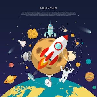 Weltraum mission konzept