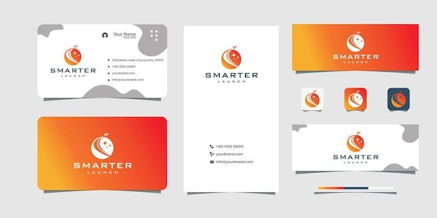 Weltraum-papierflugzeug-logo-design visitenkarten-design