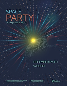 Weltraum-party-plakat