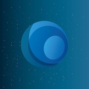 Weltraum planeten design