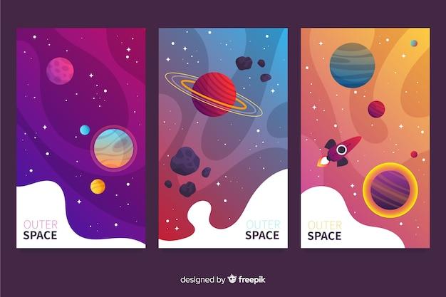 Weltraumabdeckung mit farbverlauf