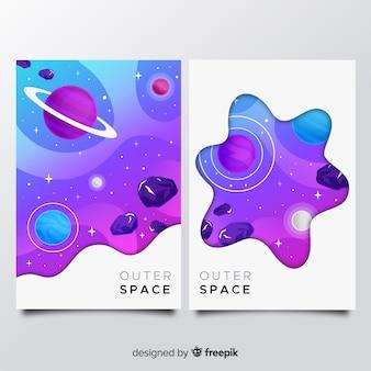 Weltraumabdeckung sammlung