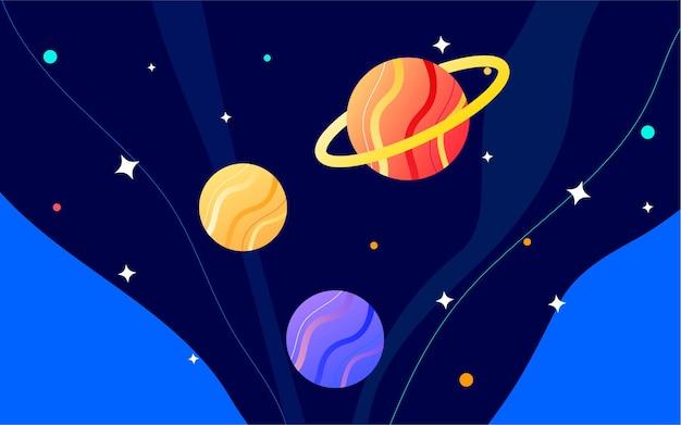 Weltraumastronaut science-fiction-zukunftsillustration nachtplaneten-technologieplakat
