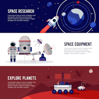 Weltraumforschungsausrüstung für planeten und sterne
