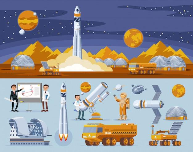 Weltraumforschungskonzept