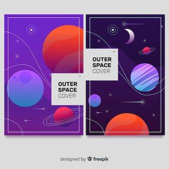 Weltraumhintergründe mit farbverlauf