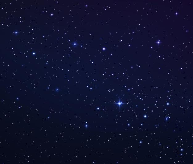 Weltraumhintergrund mit leuchtenden sternen sternennacht mit glänzenden sternen im gradientenhimmel