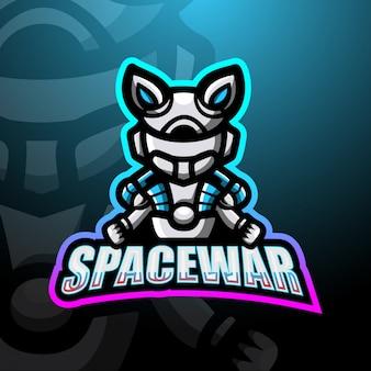 Weltraumkrieg maskottchen esport logo illustration