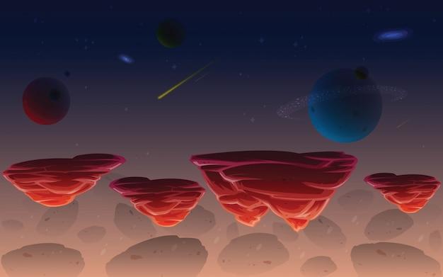 Weltraumspiel hintergrund