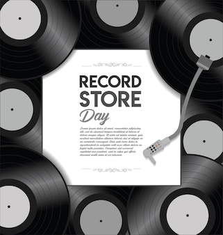 Weltrekord store day retro design vorlage