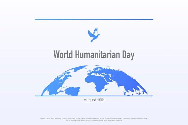 Welttag der humanitären hilfe, der jedes jahr am 19. august begangen wird, weltweit banner-vorlage pflegehilfe