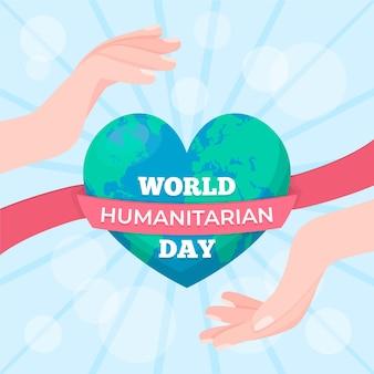 Welttag der humanitären hilfe mit dem planeten