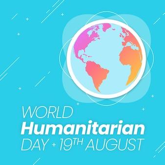 Welttag der humanitären hilfe mit globus