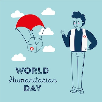 Welttag der humanitären hilfe mit hilfe