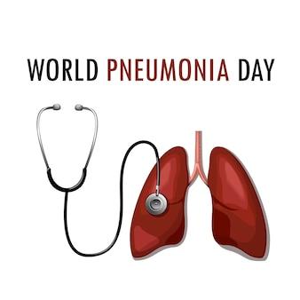 Welttag der lungenentzündung november. stoppen sie die lungenentzündung. rette ein kind.