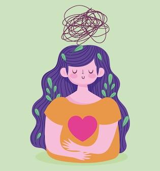 Welttag der psychischen gesundheit, frau, die an depressionen leidet