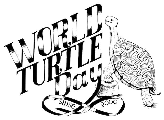 Welttag der schildkrötenumgebung