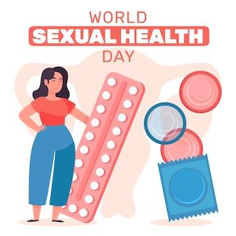 Welttag der sexuellen gesundheit mit verhütungsmitteln