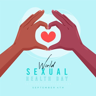 Welttag der sexuellen gesundheit und herz