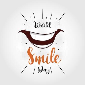 Welttag des lächelns