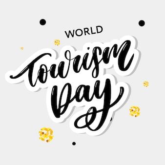 Welttourismus tag. beschriftung