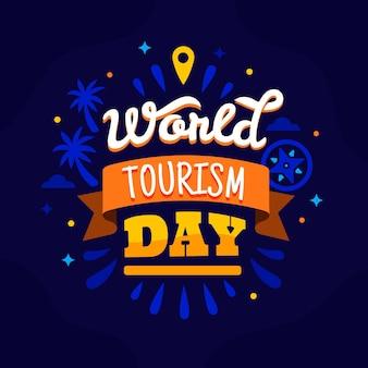 Welttourismus tag - schriftzug konzept