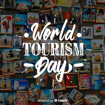 Welttourismustag mit kühlschrankmagneten