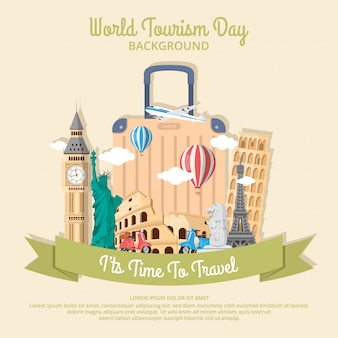 Welttourismustageshintergrunddesign