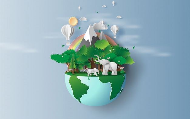 Weltumwelt und tag der erde