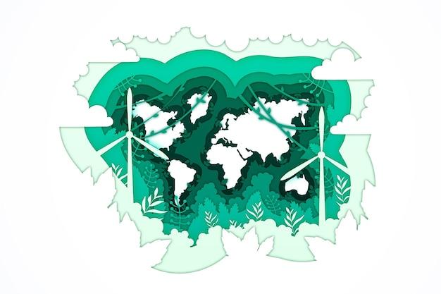 Weltumwelttag im papierstil
