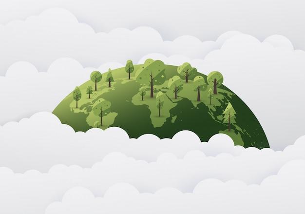 Weltumwelttagskonzept mit save the world