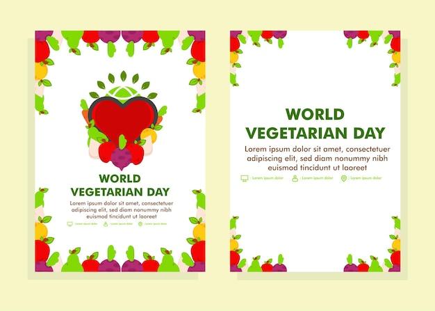 Weltvegetariertag poster designvorlage flyer designvorlage