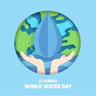 Weltwassertag hintergrund.
