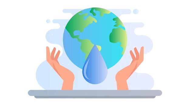 Weltwassertag illustration hintergrund