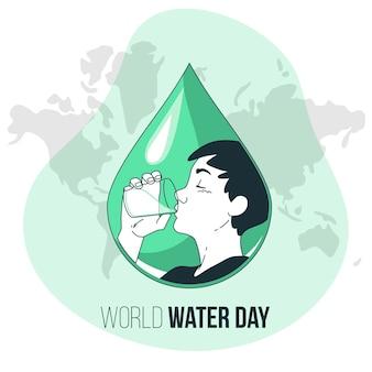 Weltwassertag konzeptillustration