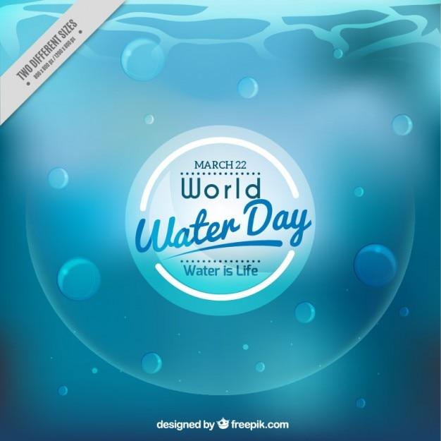 Weltwassertag unscharfen hintergrund