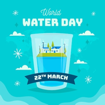 Weltwassertag veranstaltung Kostenlosen Vektoren