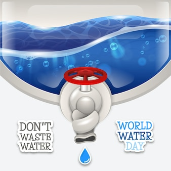 Weltwassertag, verschwenden sie kein wasser