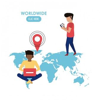 Weltweit hier klicken